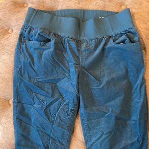 Gap teal corduroy maternity skinny pants